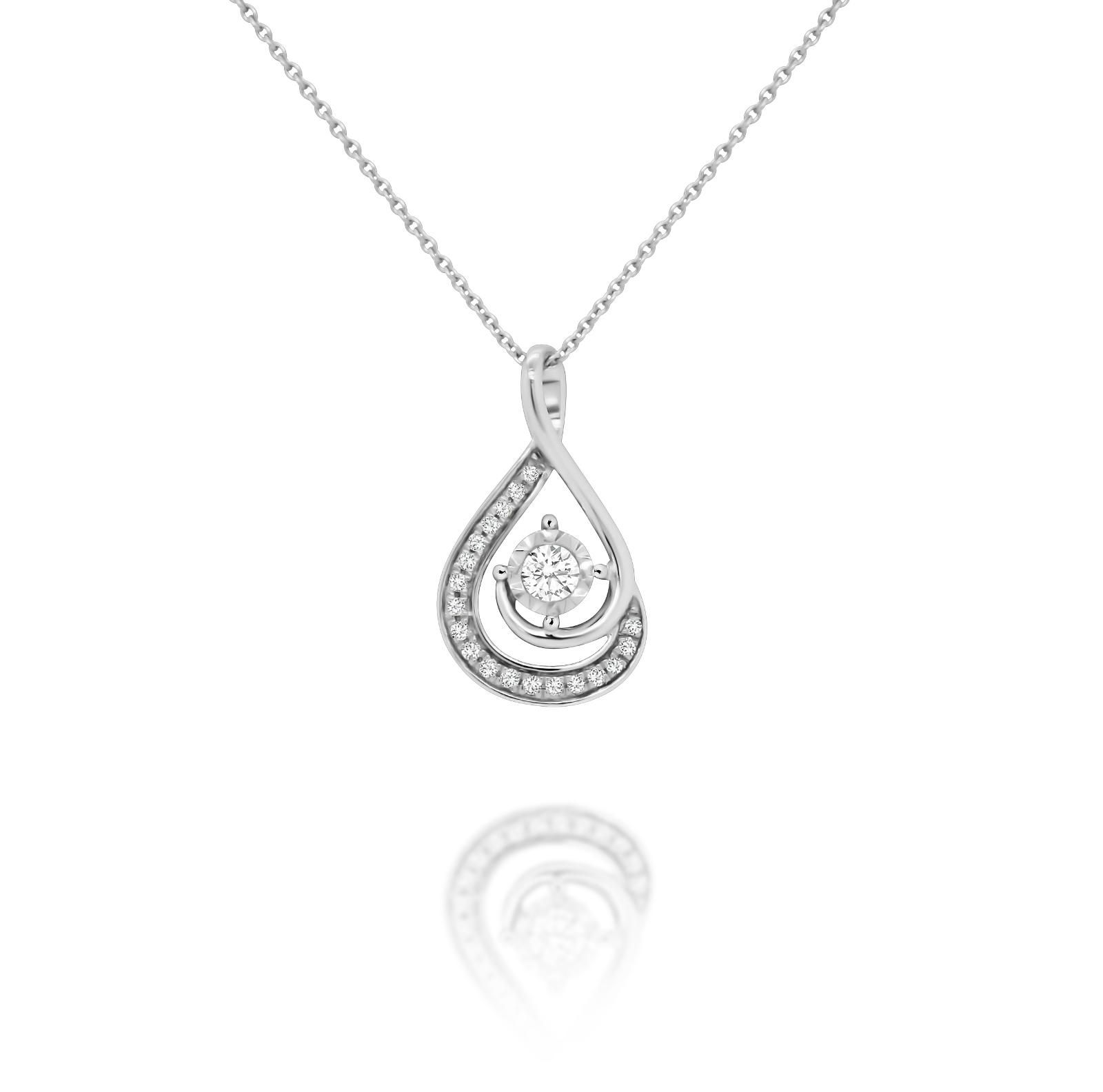 Teardrop Swirl Necklace - $599
