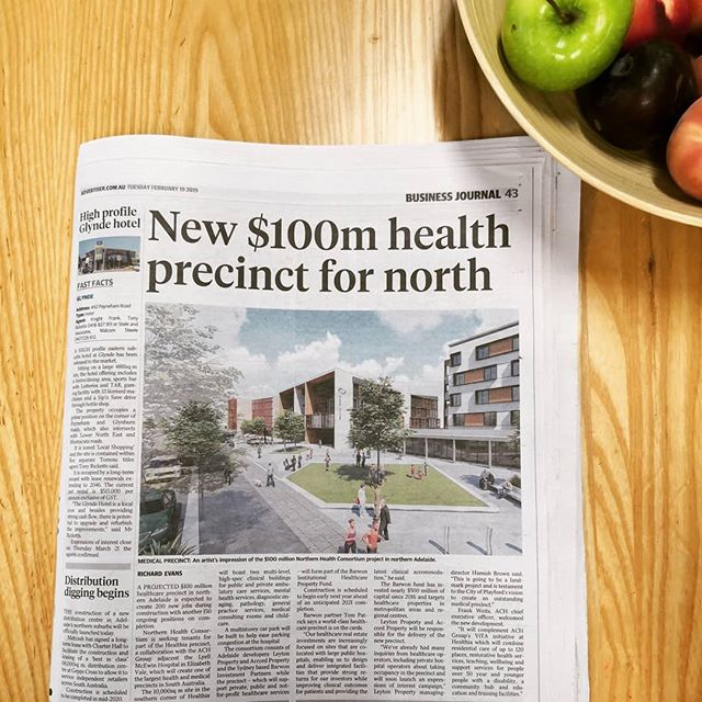 📢 ANNOUNCING our new project at the Healthia precinct (adjacent the Lyell McEwin Hospital in the @cityofplayford) in collaboration with @achgroup 📢 We're co-development partners delivering two multi-level high-spec clinical buildings that will be home to a range of health and medical services. Stay tuned for details!  @thetiser  #leytonproperty #barwon #ach #healthia #newproject #annoucement #theadvertiser