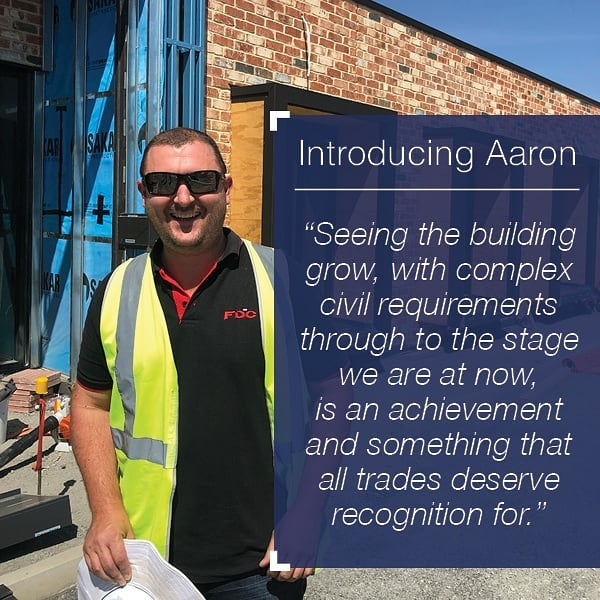 📢 INTRODUCING AARON 📢 He's taking care of things at our newest project for @goodstartmoments_ at Underdale. After completing an adult apprenticeship and working as a carpenter/joiner 🔨 he joined @fdc_group as site manager in 2014. He keeps things running smoothly on site and is always a pleasure to work with 💯👍 #fdc #sitemanager #topbloke #childcarecentre #newbuild #underconstruction #teamwork #leytonproperty