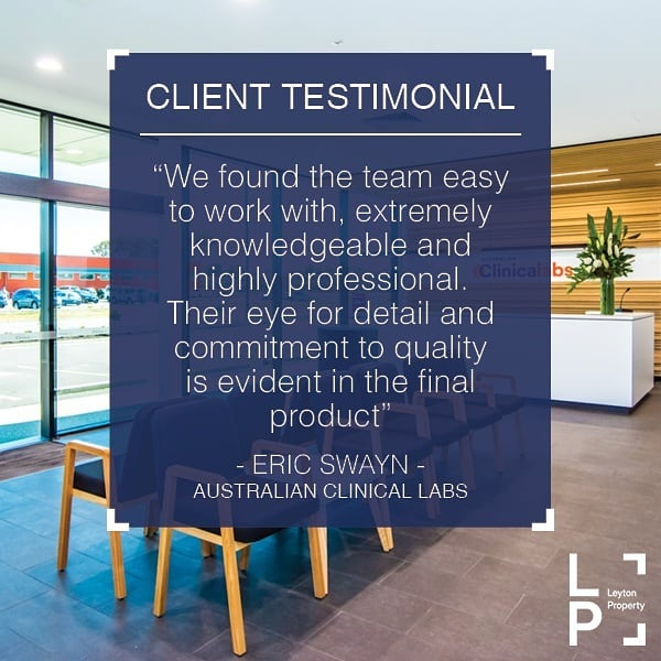 📢 TESTIMONIAL TUESDAY 📢 In February of this year we completed a new facility for Australian Clinical Labs in the Adelaide Airport business district. This innovative building was delivered in record time (9 months!) thanks to the hard work of everyone involved - a great project for a great client 👏  #testimonialtuesday #completedproject #recordtime #australianclinicallabs #laboratory #innovation #adelaideairport #burbridgebusinesspark #leytonproperty