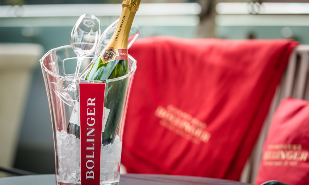 Bollinger Champagne in an ice bucket