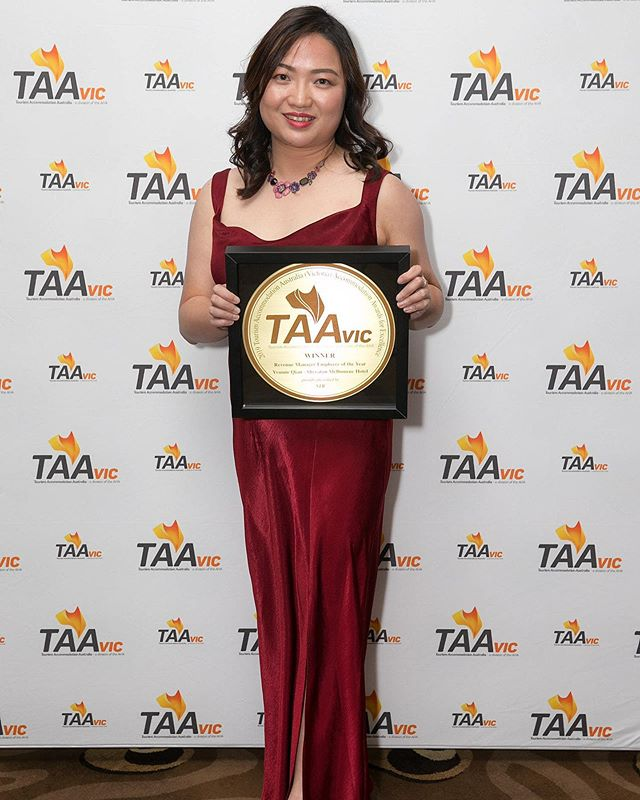 "Congratulations to our Complex Director of Revenue Management Yvonne Qian for winning in the category ""Revenue Manager Employee of the Year"" at last weeks TAA VIC - Accommodation Awards for Excellence 2019."