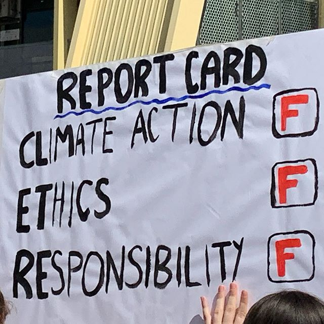What's on your climate strike sign today? #climatestrike #studentstrikeforclimatechange #climatestrikeaustralia