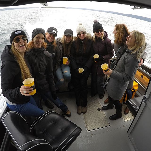 Great time hosting these ladies for the afternoon. Iceberg hunting team of the week! #saltwaterchartersnl #newfoundland #newfoundlandboatcharters #iceberghunters #privatecharter #explorenl #tourismnl #getoutside #boatcharters #oceanlife