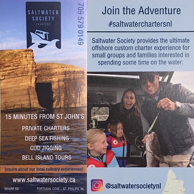 Still some charters available for opening weekend!! JUNE 29-JULY 1. Come get your fish on!  Www.saltwatersociety.ca/charters 709-579-0149  #codjigging #newfoundlandfishing #saltwaterchartersnl #explorenl #tourismnl @newfoundlandlabrador