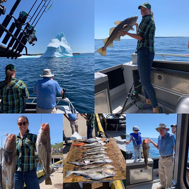 What a family! We hope you had as much fun as we did hosting you all!  #familyfishing #explorenl #tourismnl @destinationstjohns #nltourism #newfoundland #portugalcove #saltwaterchartersnl #ocean #northatlantic #fishing #privatecharters #dayonthebay
