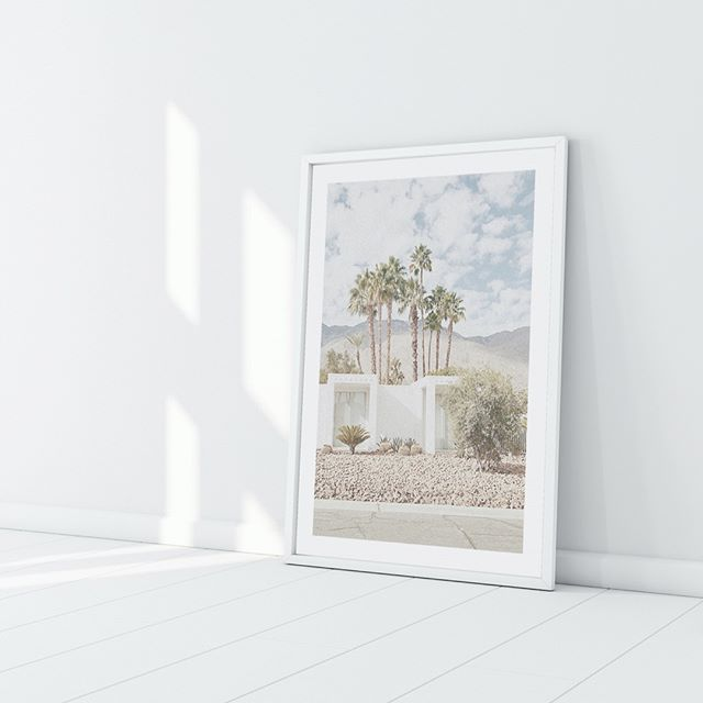 Trending Now, all things Palm Springs! Get your hands on our Palms Springs Villa art print as it hot-to-trot! With six sizes available and three frame colours to choose from theres a size and colour to suit your space . . . #jennadavieillustration