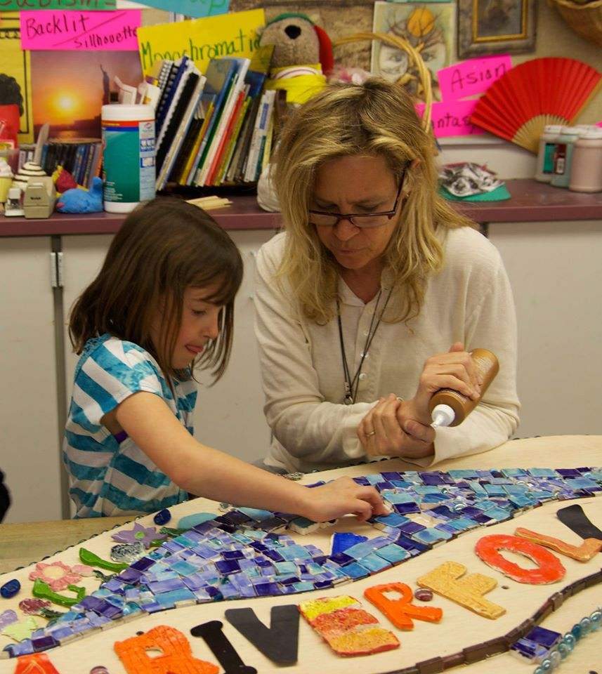 Susan working with a first grader