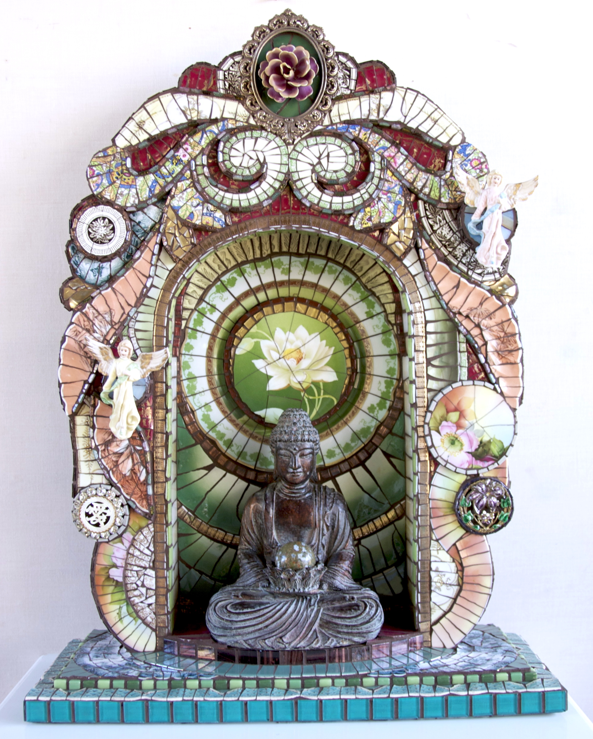 """Buddha Shrine"" 2012. 28""H x 20""W x 10""D (SOLD)"