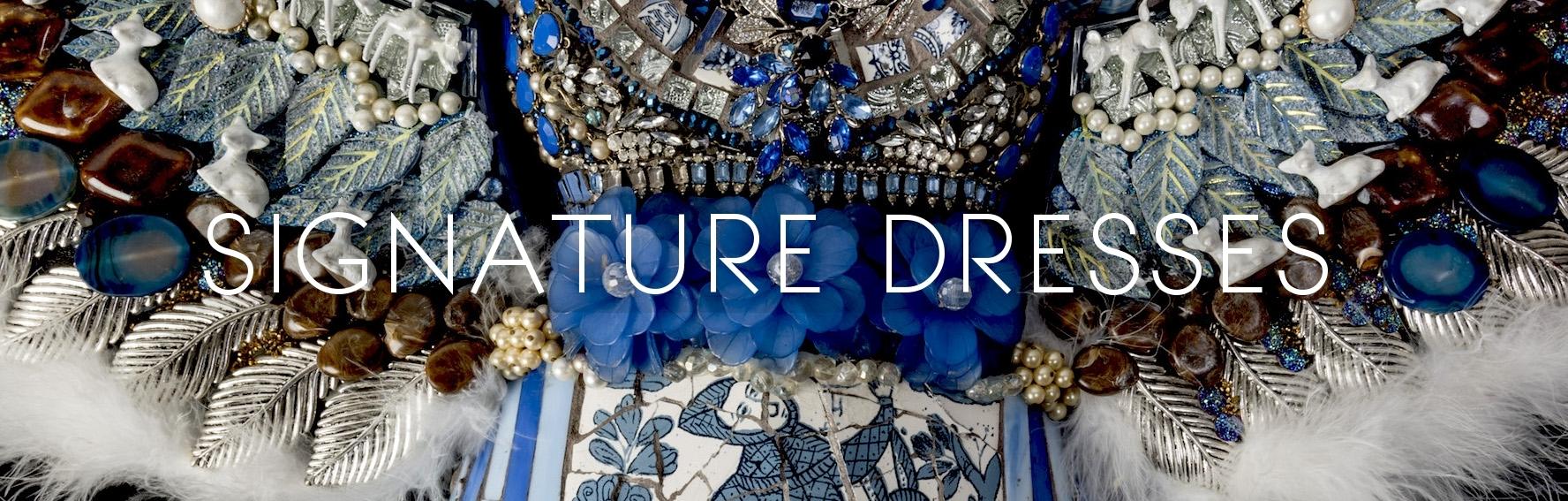 signature mosaic dresses