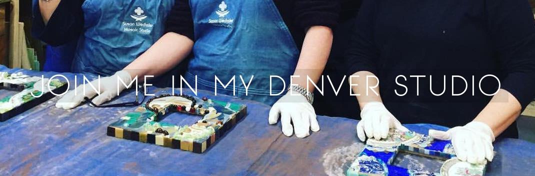 Denver mosaics classes! Join me in my Denver studio