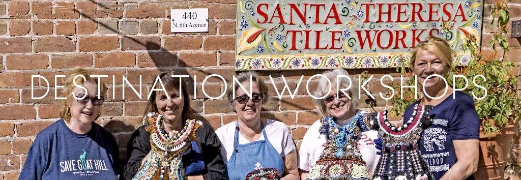 Traveling mosaic teacher! Destination workshops