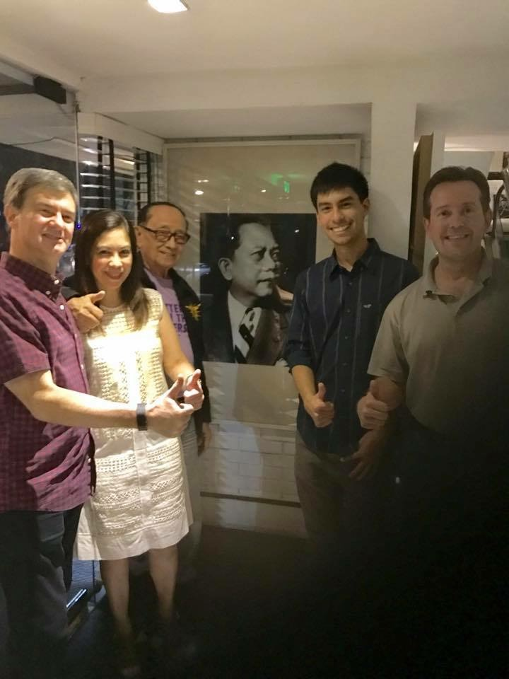 Sandie, Enzo, and Rafael Squillantini with former president Fidel V. Ramos and Jon Skelly