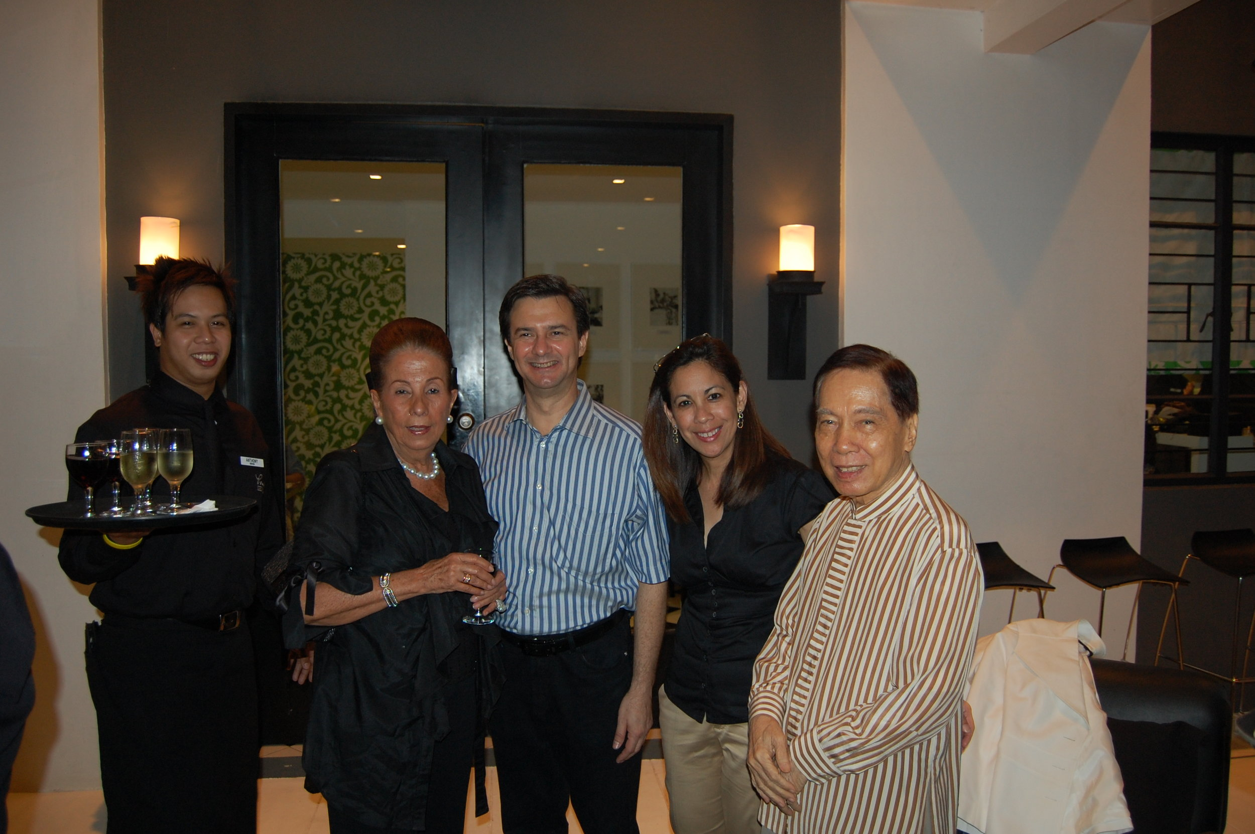 "With the ""Fashion Czar of Asia,"" Pitoy Moreno, and Pilina Rocha"
