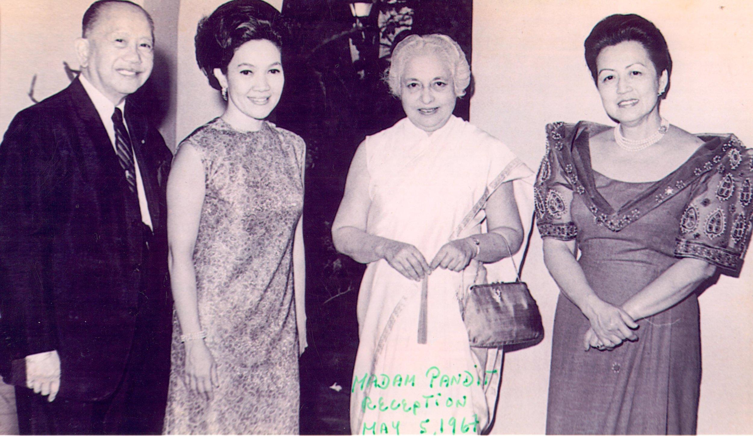 CPR and Madam Vijaya Lakshmi Pandit