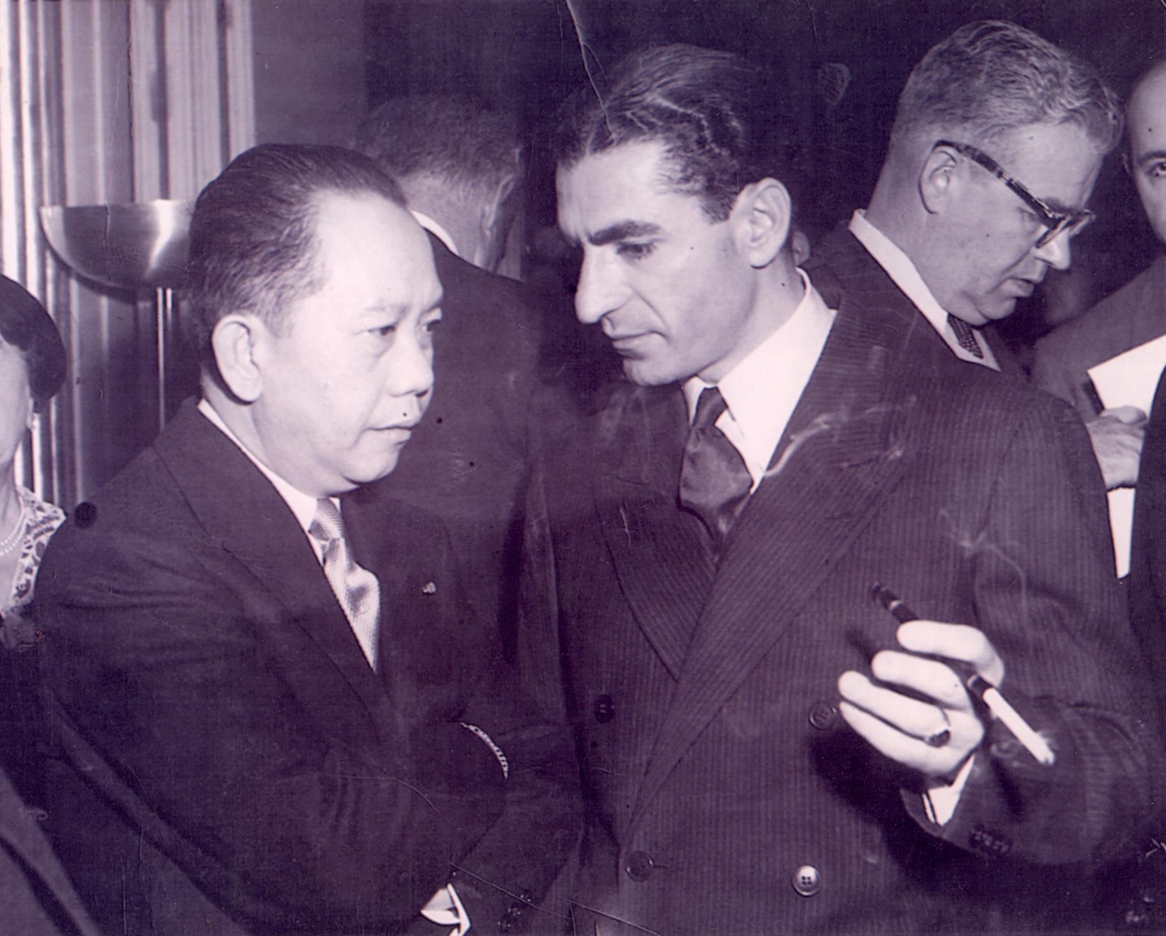 With Shah of Iran-Mohammed Reza Shah Pahlavi