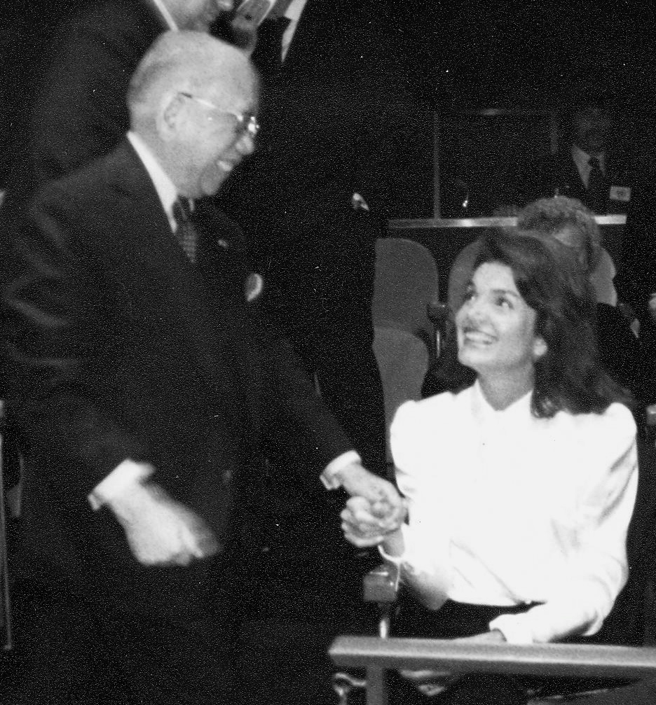 With Jacqueline Kennedy Onassis