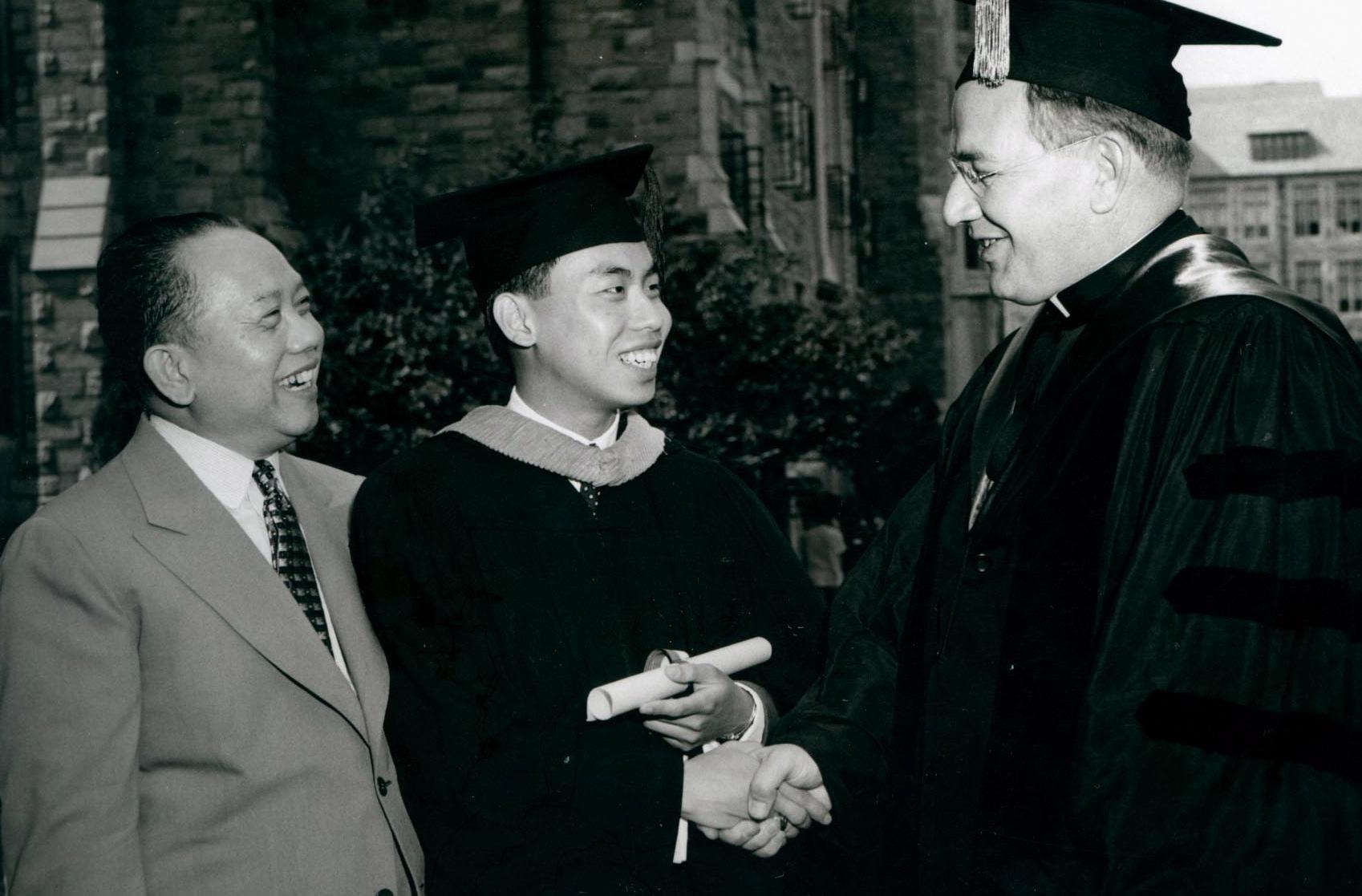 Ricardo Romulo's College Graduation