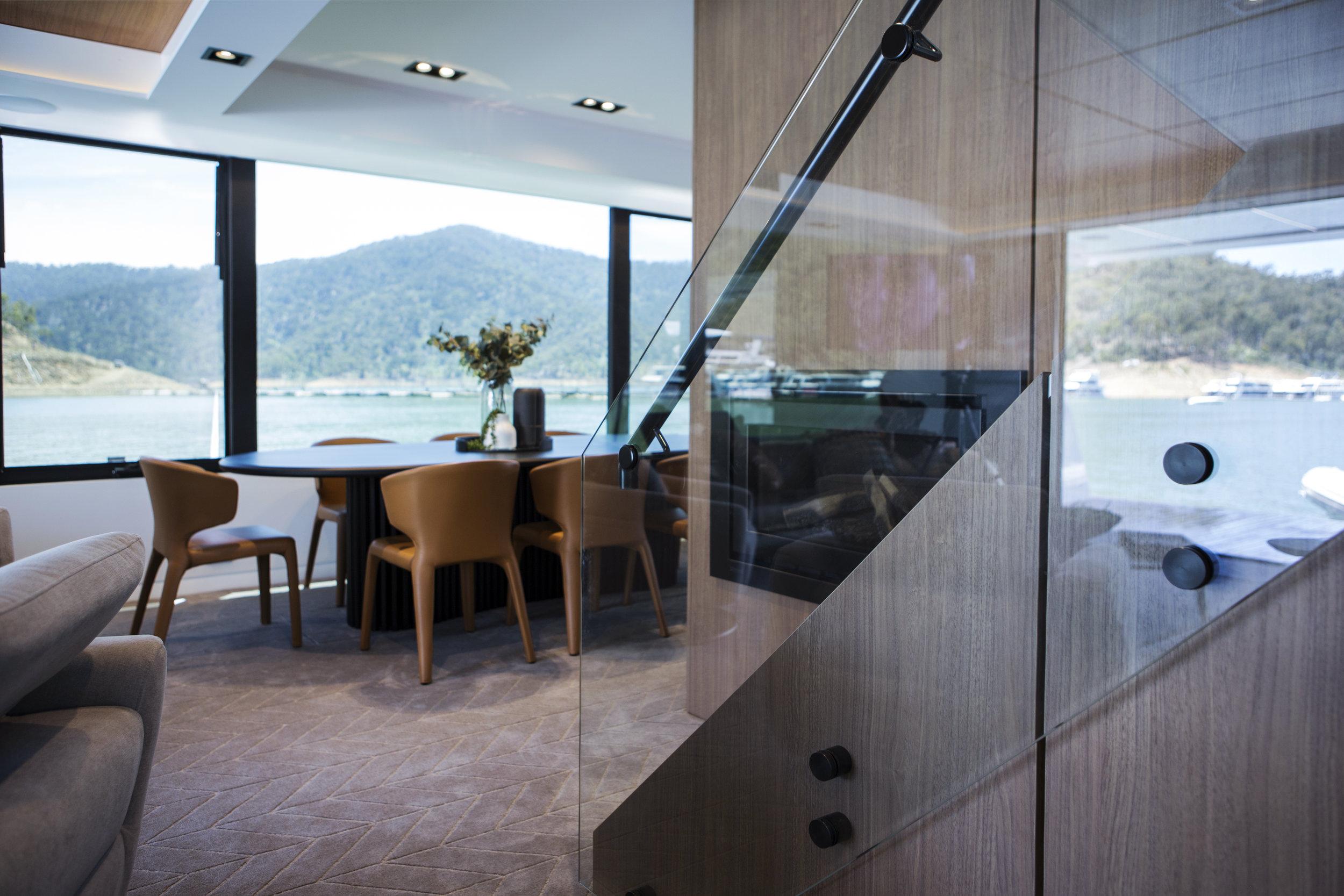 Furntiure Fitout houseboat design Lisa Larkin Design