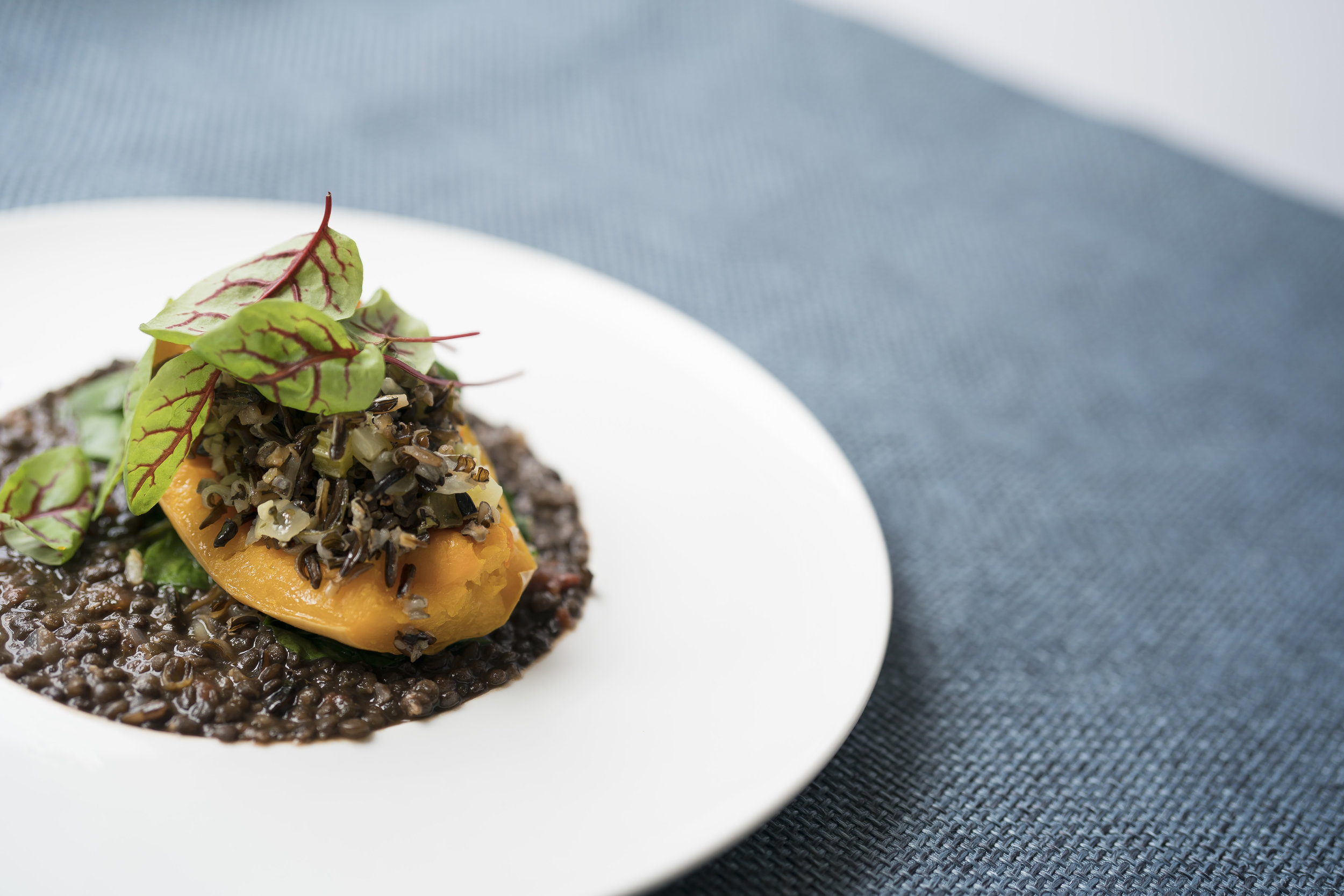 Roasted Butternut Squash, Lentil Stew, Wild Rice and Braised Greens_Main_Fall 18 GP Tasting_BH_30.JPG