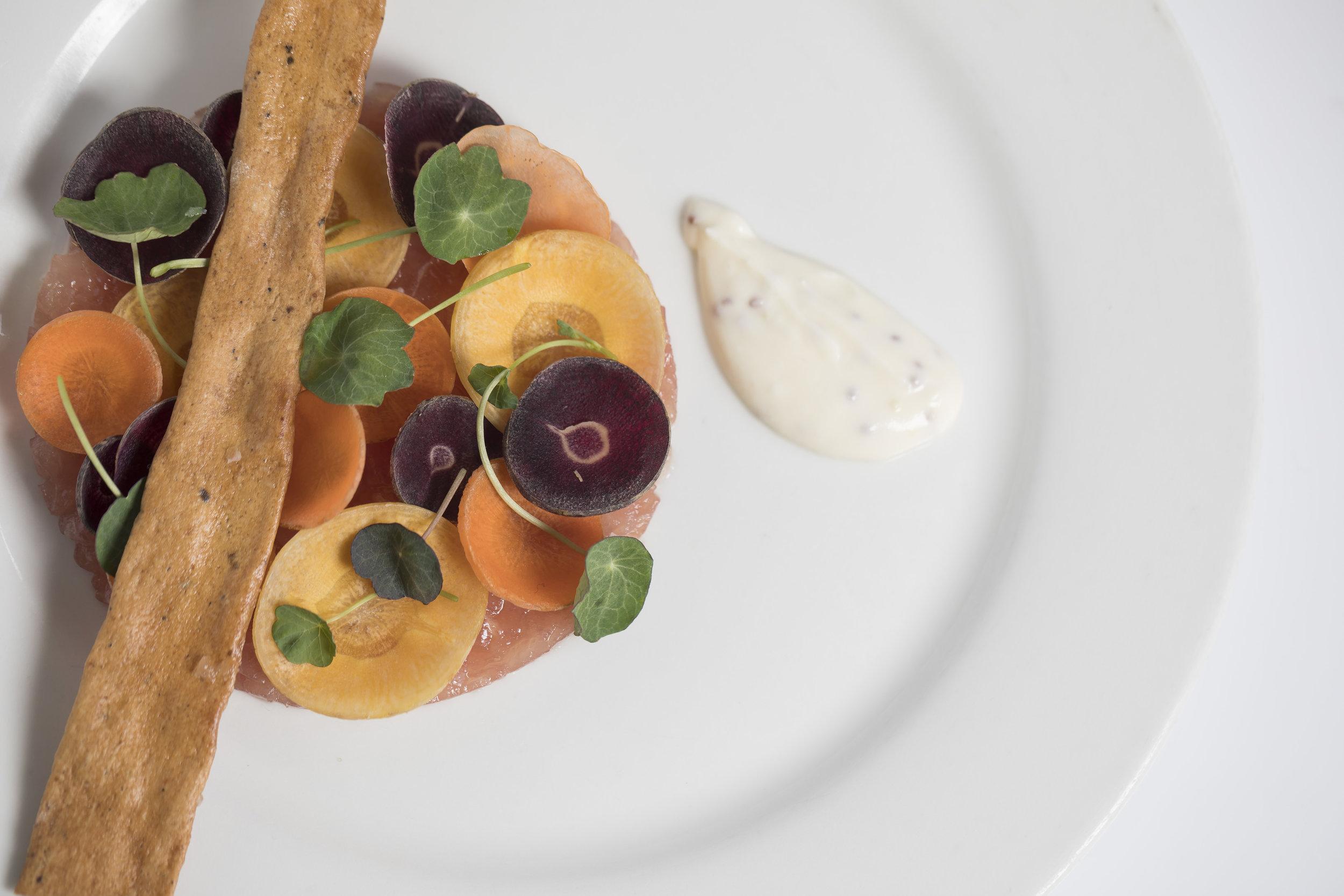 Yellow Fin Tuna Tartare with Carrot Crudo_First_Fall 18 GP Tasting_BH_54.JPG