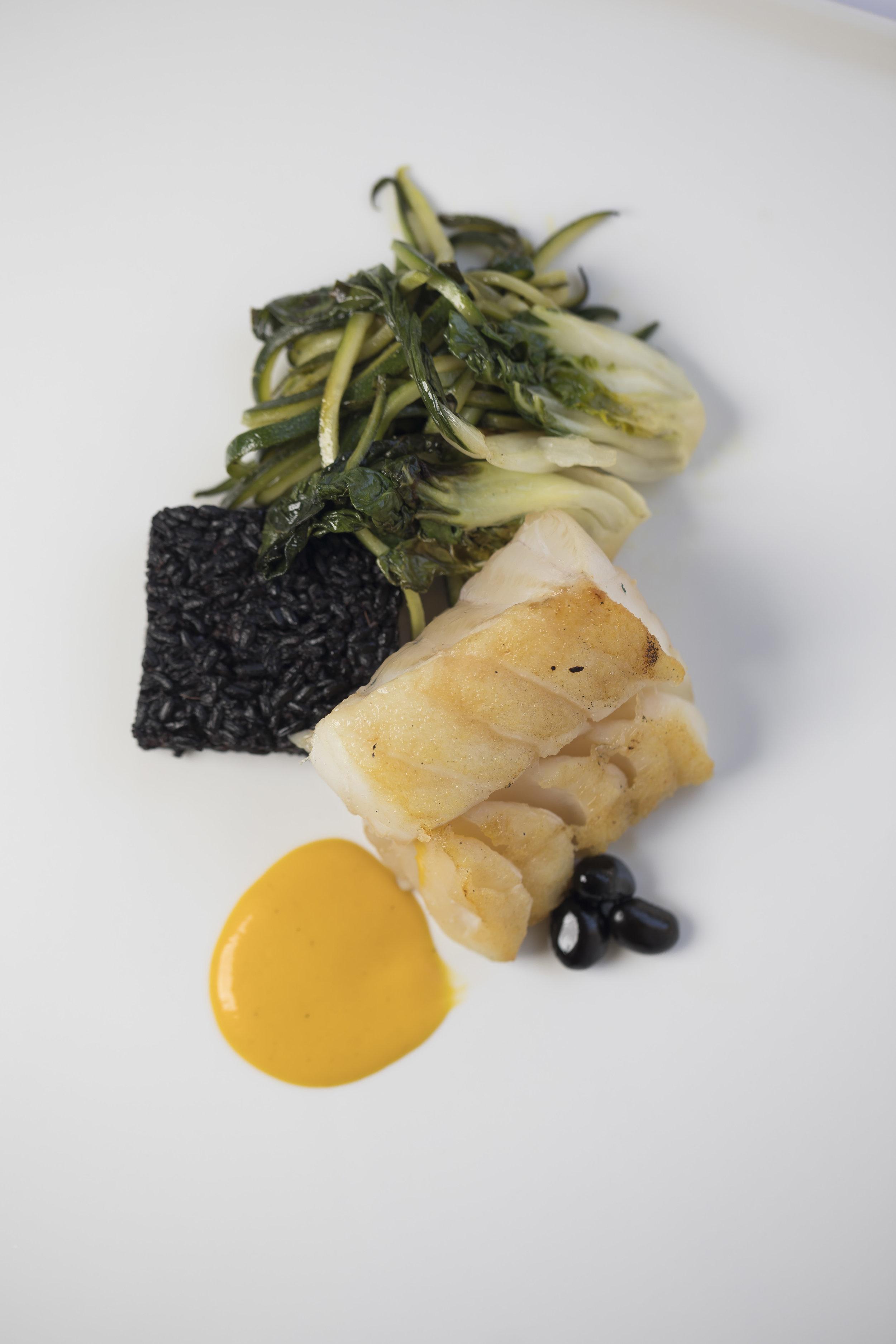 White Soy Glazed Icelandic Cod with Bok Choy and Black Rice Cake_Main_Fall 18 GP Tasting_BH_02 (1).JPG