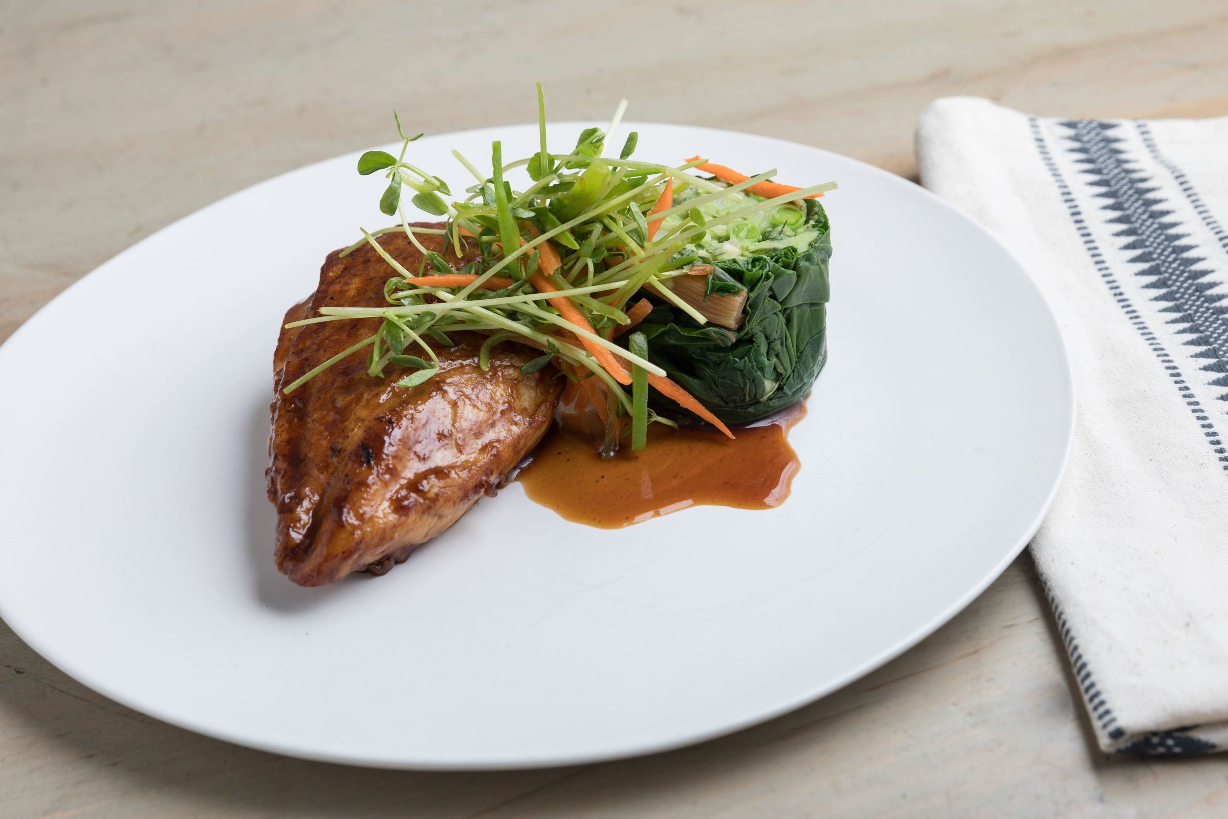 Butter Seared Breast of Chicken, Spring Greens _ Peas.jpg