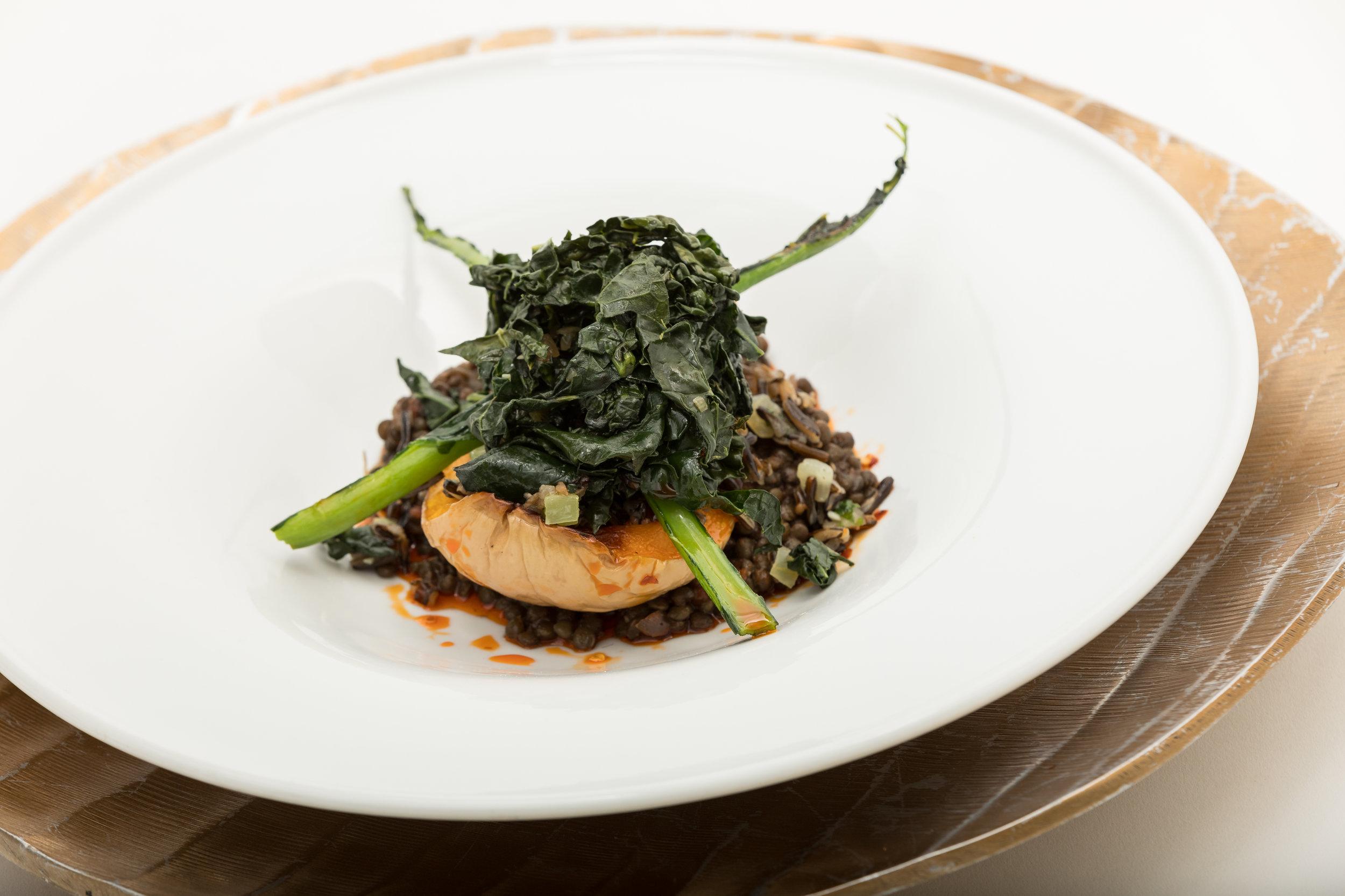 Five-Spice Beluga Lentils & Roast Butternut Squash w_Wild Rice, Greens, Chili Oil & Black Vinegar_Amanda Gentile7.jpg
