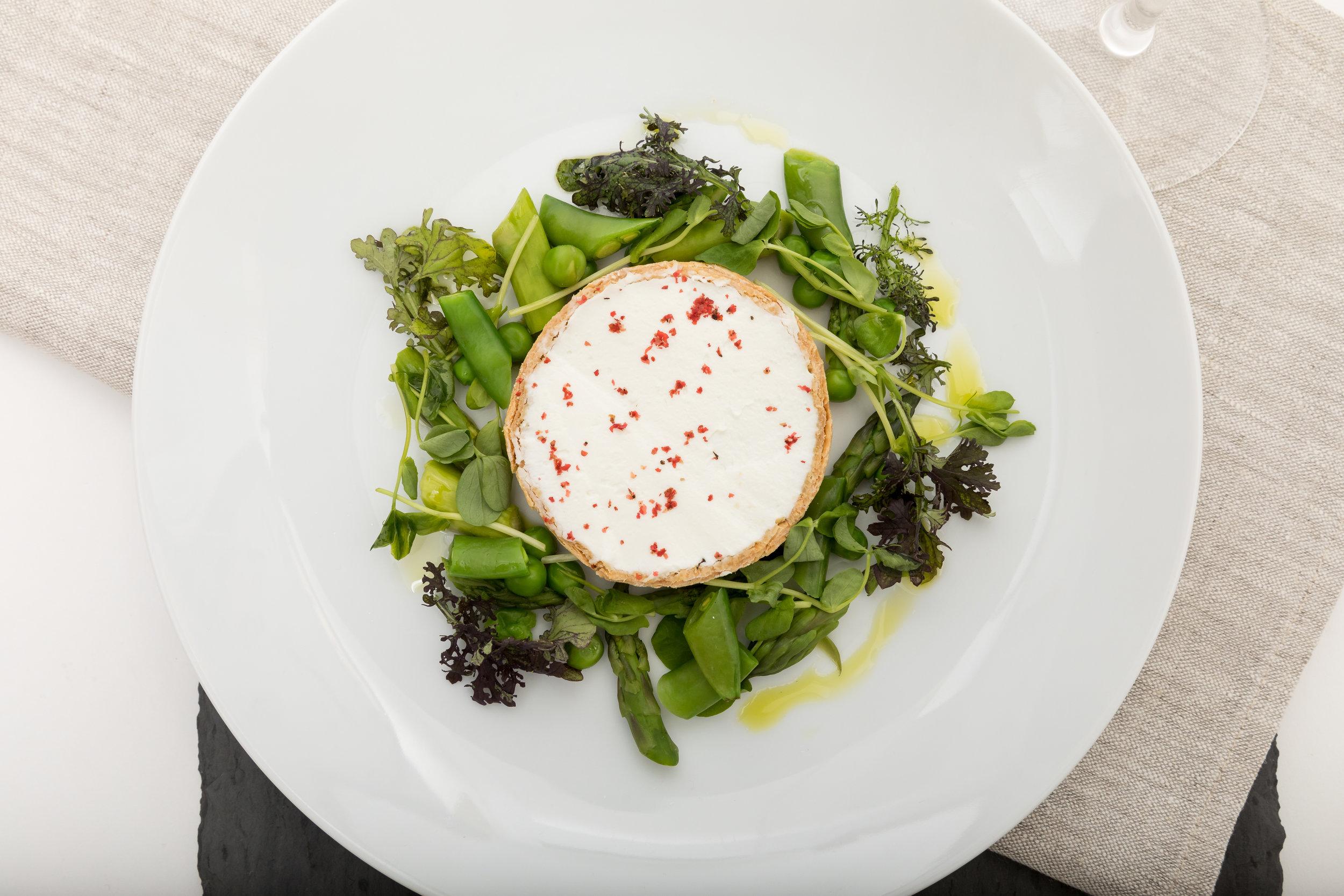 Goat Cheese & Asparagus Tart w_Pea Tendrils, Sugar Snaps, Truffle Vinaigrette_Amanda Gentile6.jpg