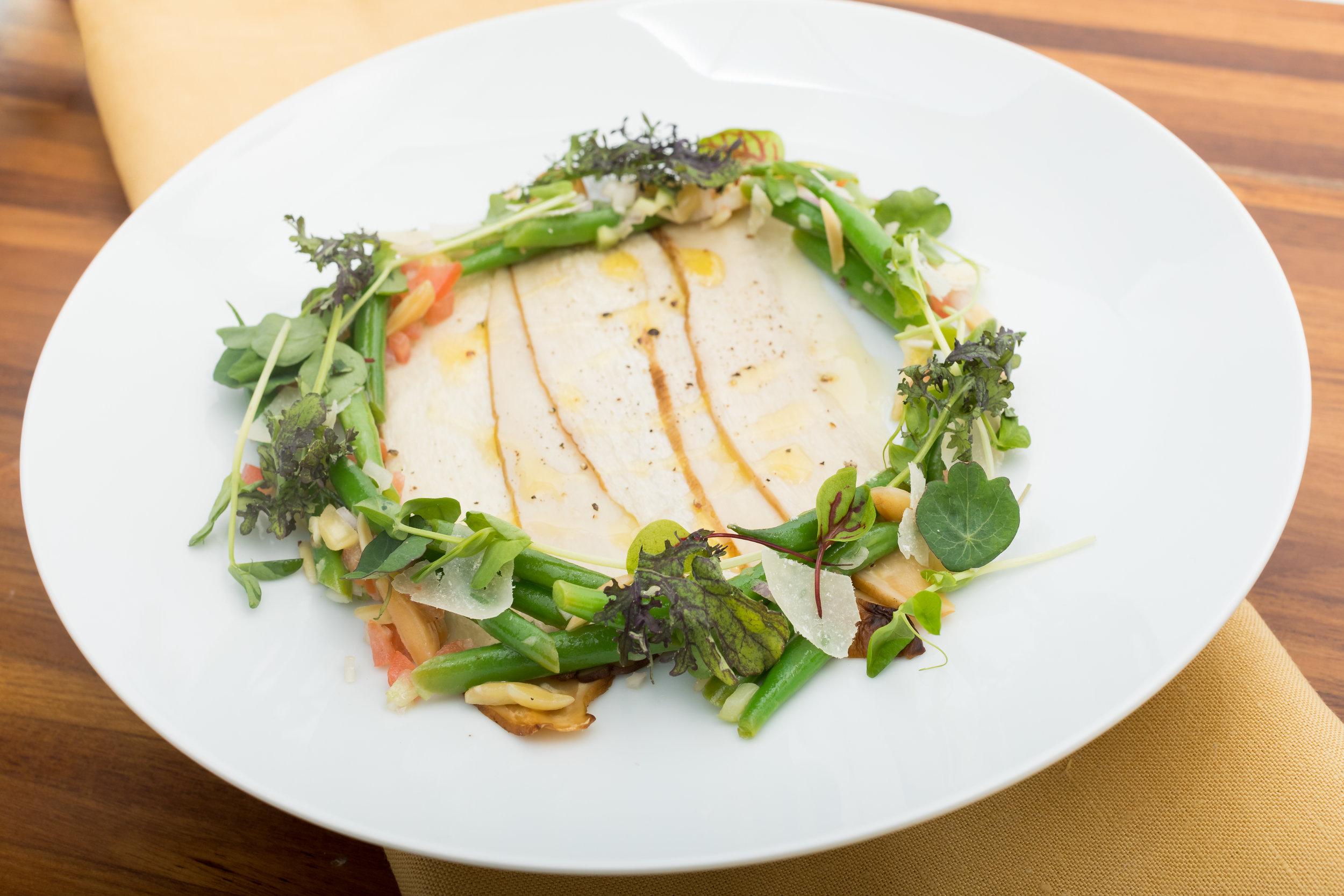 King Trumpet Oyster Mushroom Carpaccio w_Parmesan, Herb Salad, Almonds, Lemon_Amanda Gentile5.jpg