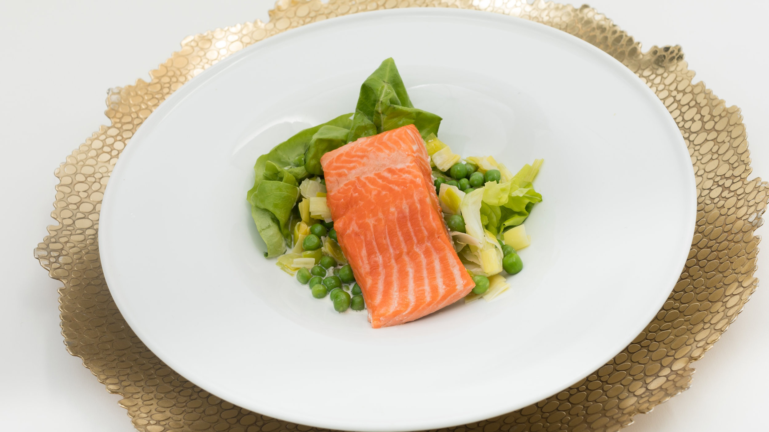 Oil Poached Artic Char, Oyster Devonshire Cream w_ Wilted Lettuce, English Peas & Leeks, Radish, Mint_Amanda Gentile6.jpg