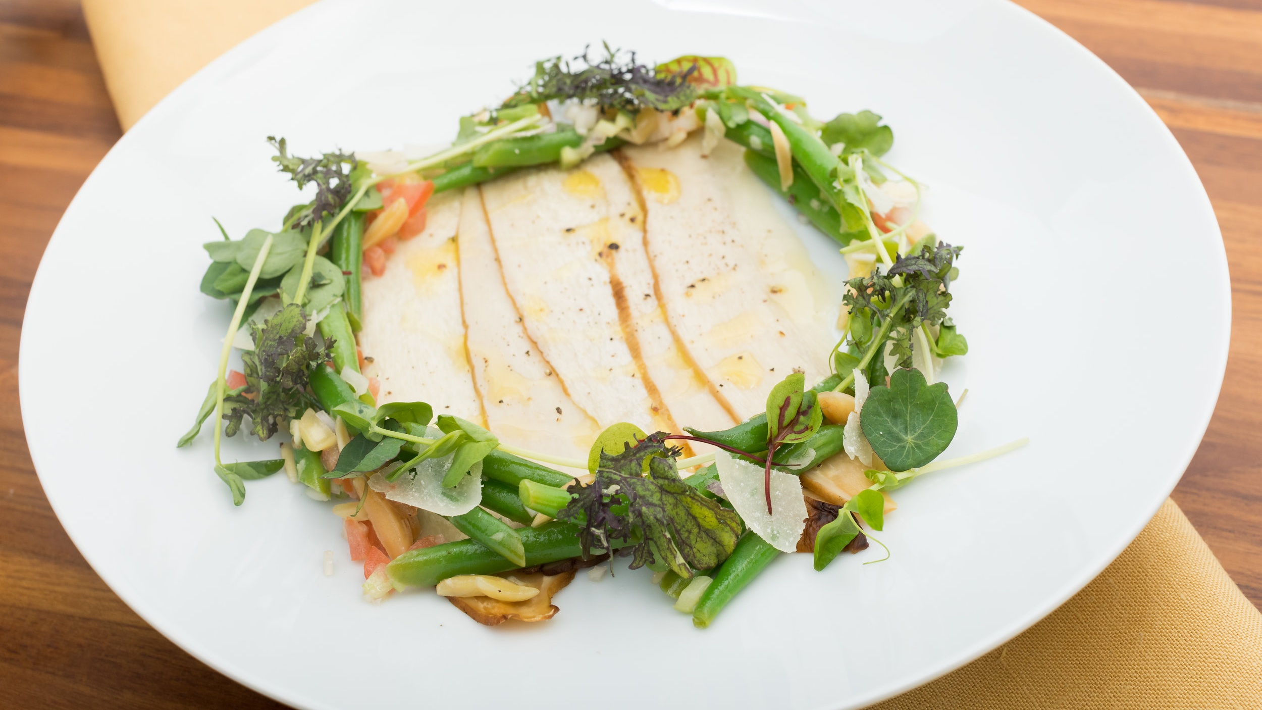 King Trumpet Oyster Mushroom Carpaccio w_Parmesan, Herb Salad, Almonds, Lemon_Amanda Gentile5.jpg