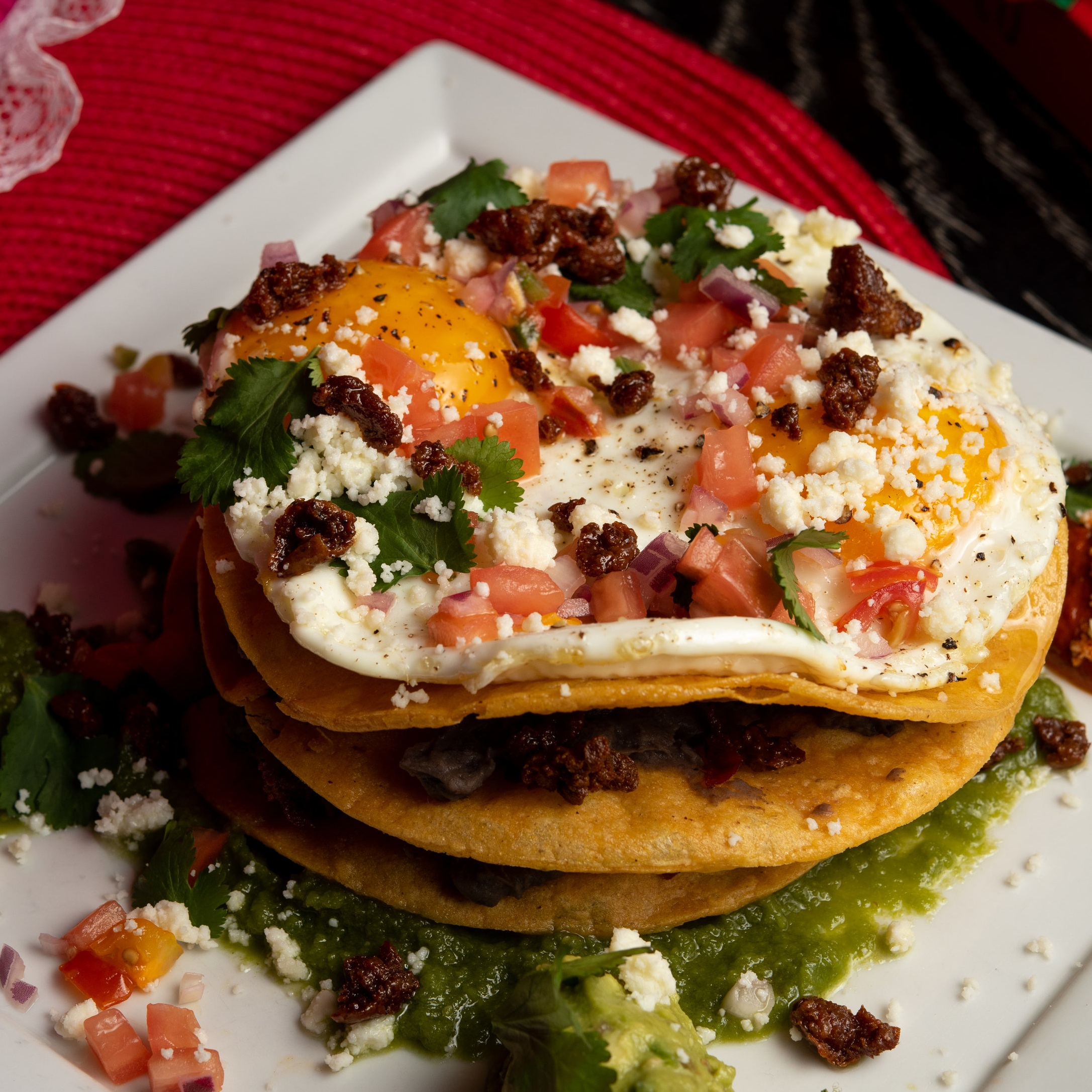 The Norm at Brooklyn Museum - BREAKFAST TOSTADAbeans, pico de gallo, lettuce, cream, fried egg©Chip Klose