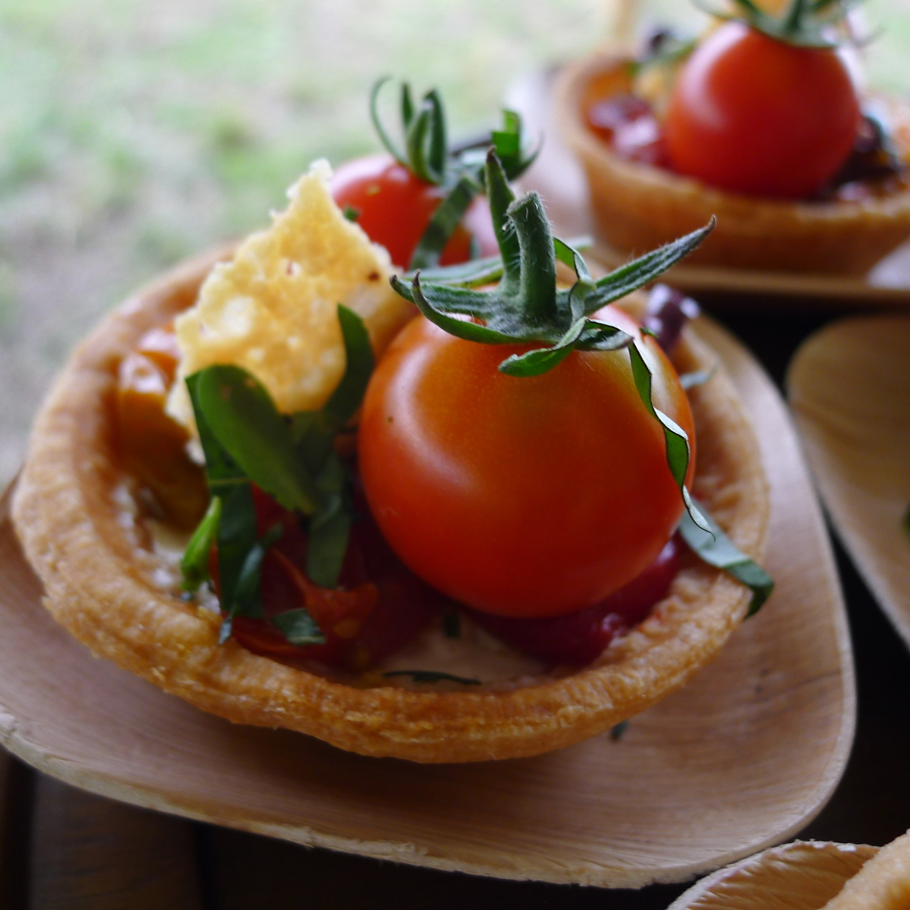 The Café at wave hill - OVEN ROASTED TOMATO TARTcaramelized vidalia onions, goat cheese