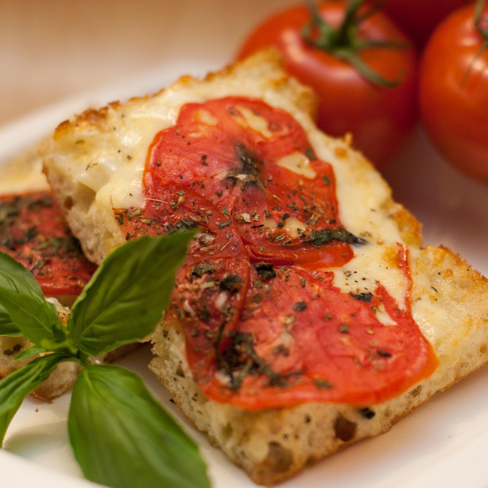 SIGNATURE CAFE AT SIGNATURE THEATRE - SUMMER FLATBREADfresh tomato, basil, fresh mozzarella, prosciutto