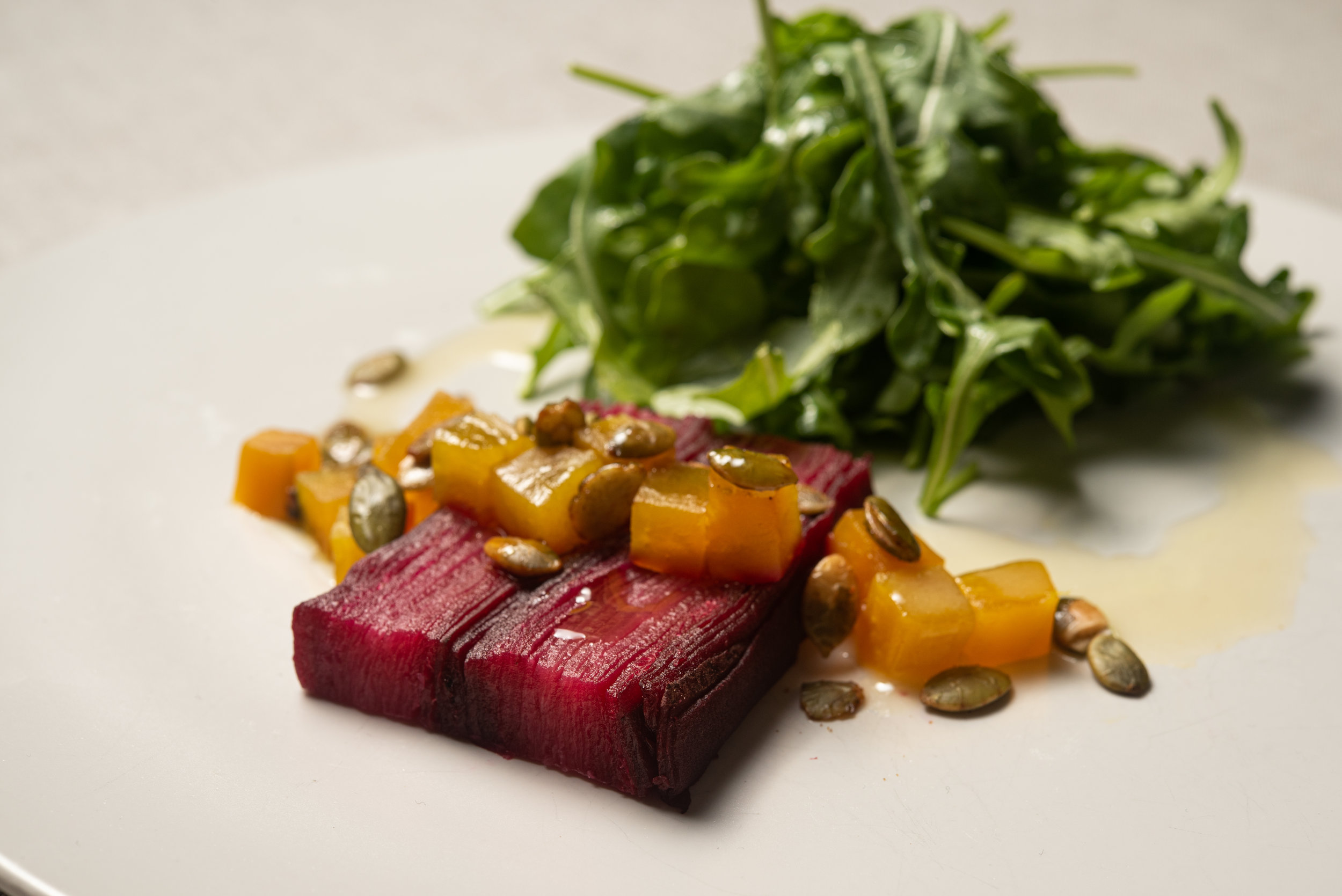 Beet Terrine with Tricolor Beets, Toasted Pumpkin Seed, Apple Cider Saba, Arugula (2).jpg