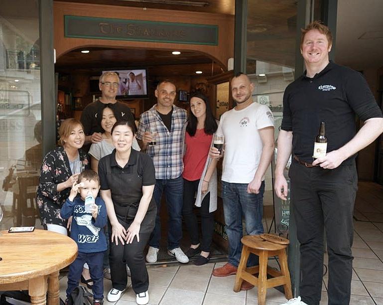 From Left: Sari & Conor (Brennan's Irish Pub), Yuko (The Shannons'), Sae & Stefano (Seamus O'Hara), Will & Lexi (an sólás), Liam (Brennan's Irish Bar) & Alan (The Giant's Stewhouse).