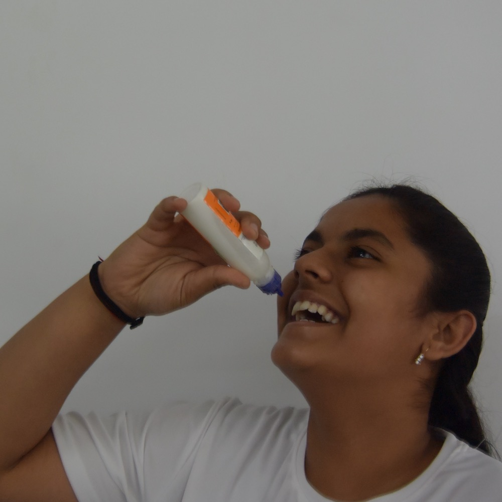 Srishti - Need something mischievous or exciting? Srishti is there with lots of ideas! You can find her punching here and there and injuring herself because she loves karate. When she was younger, she once ate glue whilst blindfolded.