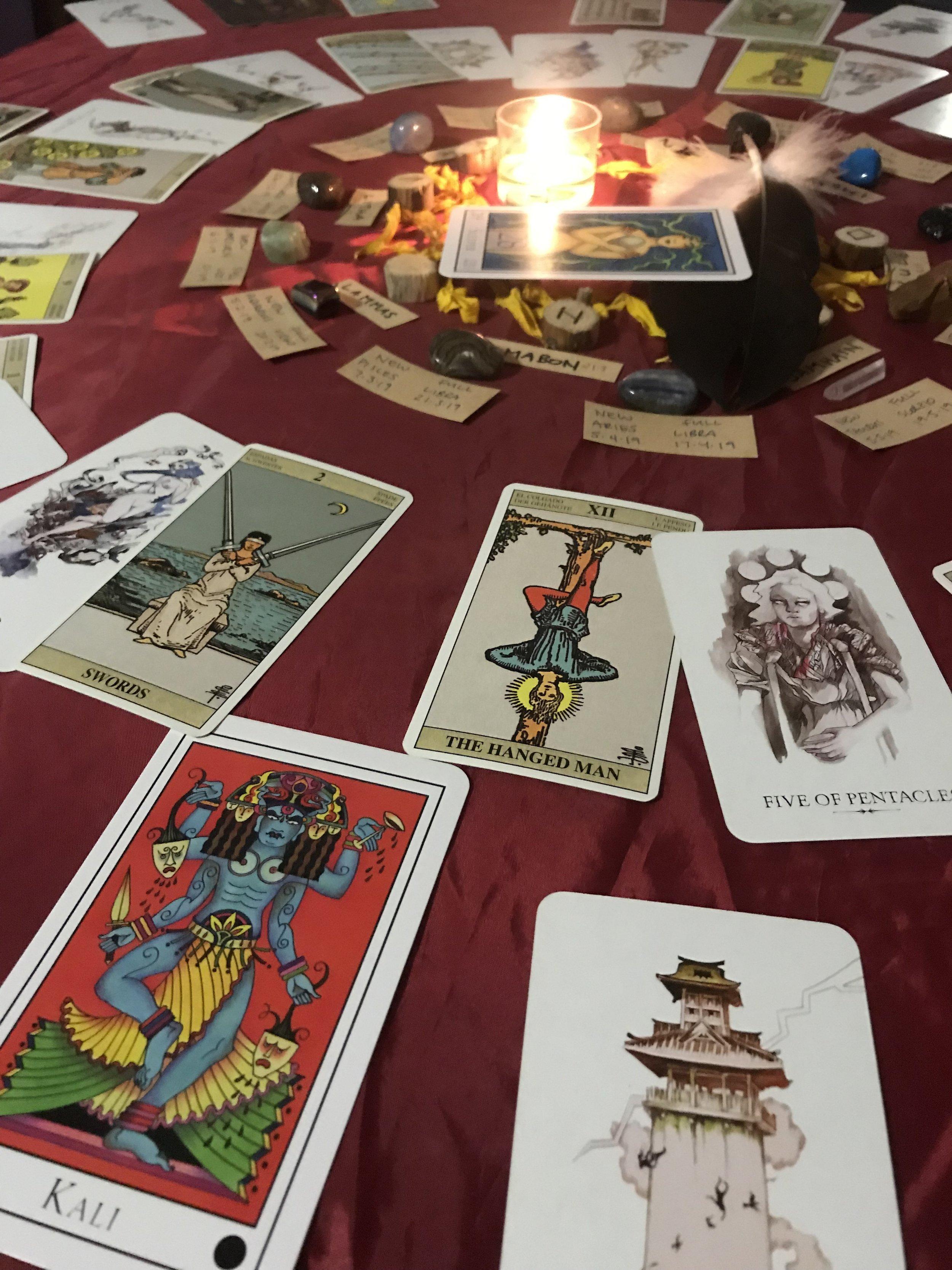 tarot reading spread 13 moons ritual kali magic