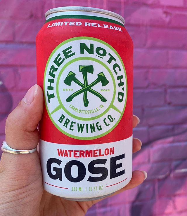 Sunday Funday! After the 🍉 Watermelon Festival 🍉 join us for a drink! We've got Three Notch'd Watermelon Gose cans special today only, and Watermelon Frosé!  ON TAP - Lickinghole Creek Craft Brewery Watermelon Gose and Midnight Brewery Watermelon Lime Kolsch 🍺🍉