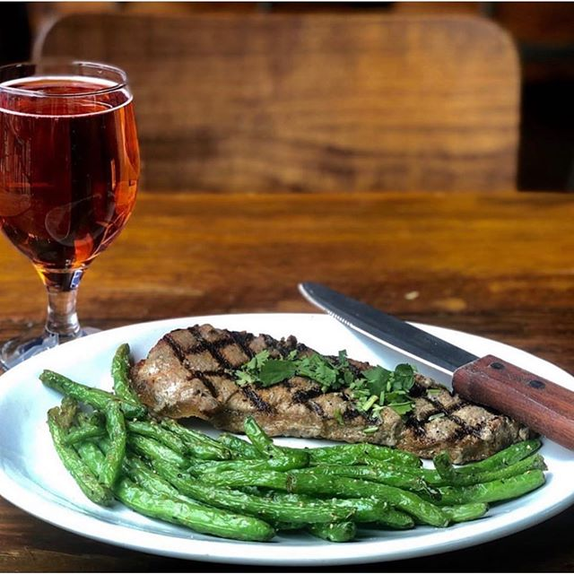 Monday = $7 steak day. This month Steak for Charity is benefitting Virginia Civic Engagement Table . . Open til 12am. Happy hour 3-7pm. Dine in only. Includes 1 sides (some sides are extra $1)
