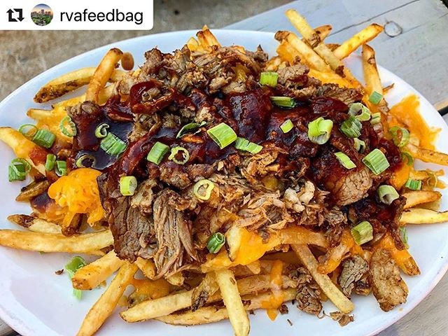 OH BABY! 🤤 . . Open 11am-12am • Happy Hour 3-7pm • Live Music 8pm • Wine & Whiskey night 5-9pm . #Repost @rvafeedbag with @make_repost ・・・ You ever wonder what a foodgasm feels like? Try these brisket fries from @kreggershandrva and you'll find out 👀 . . . . #brisketfries #brisket #bbqsauce #loadedfries #fries #cheesyfries #drunkfood #appetizer #kreggersathand