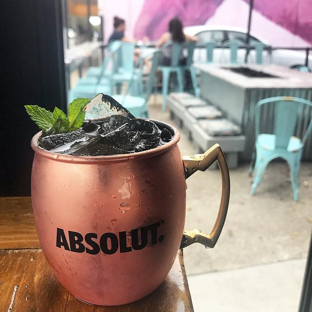 $5 mules, mojitos and House margs today from 5-9pm! . . P.S. it's almost fire pit season 🔥