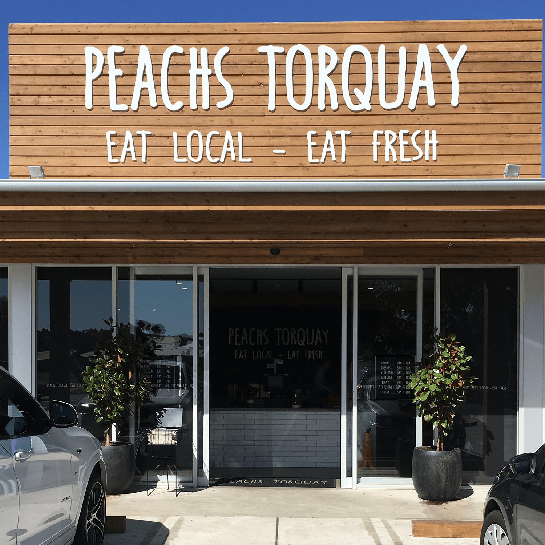 Peachs Torquay - Salt and Pepper finish