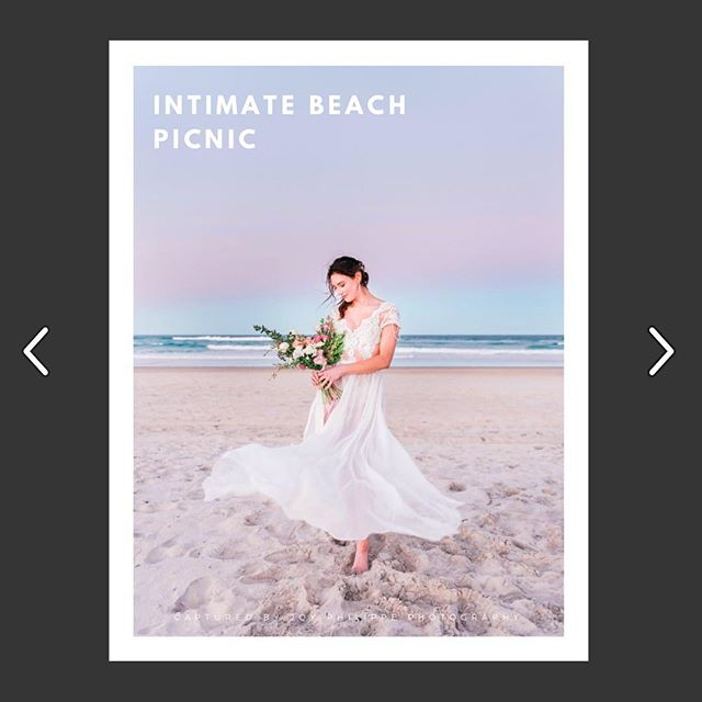 Our work was recently featured in @becomingone.co magazine. ✨ ➡️ http://bit.ly/2JZ8R02  Thankyou to the very talented @joy.philippephotography for capturing the pure romance of that sunset at The Spit 🌅  Model @bella.vanye  HMUA @rei_ant  Gown @whenfreddiemetlilly  Accessories @whitelilycouture  Florals @bumble_bloom  Food styling @wildsisterscateringandevents  Videography @paigehudsonproductions