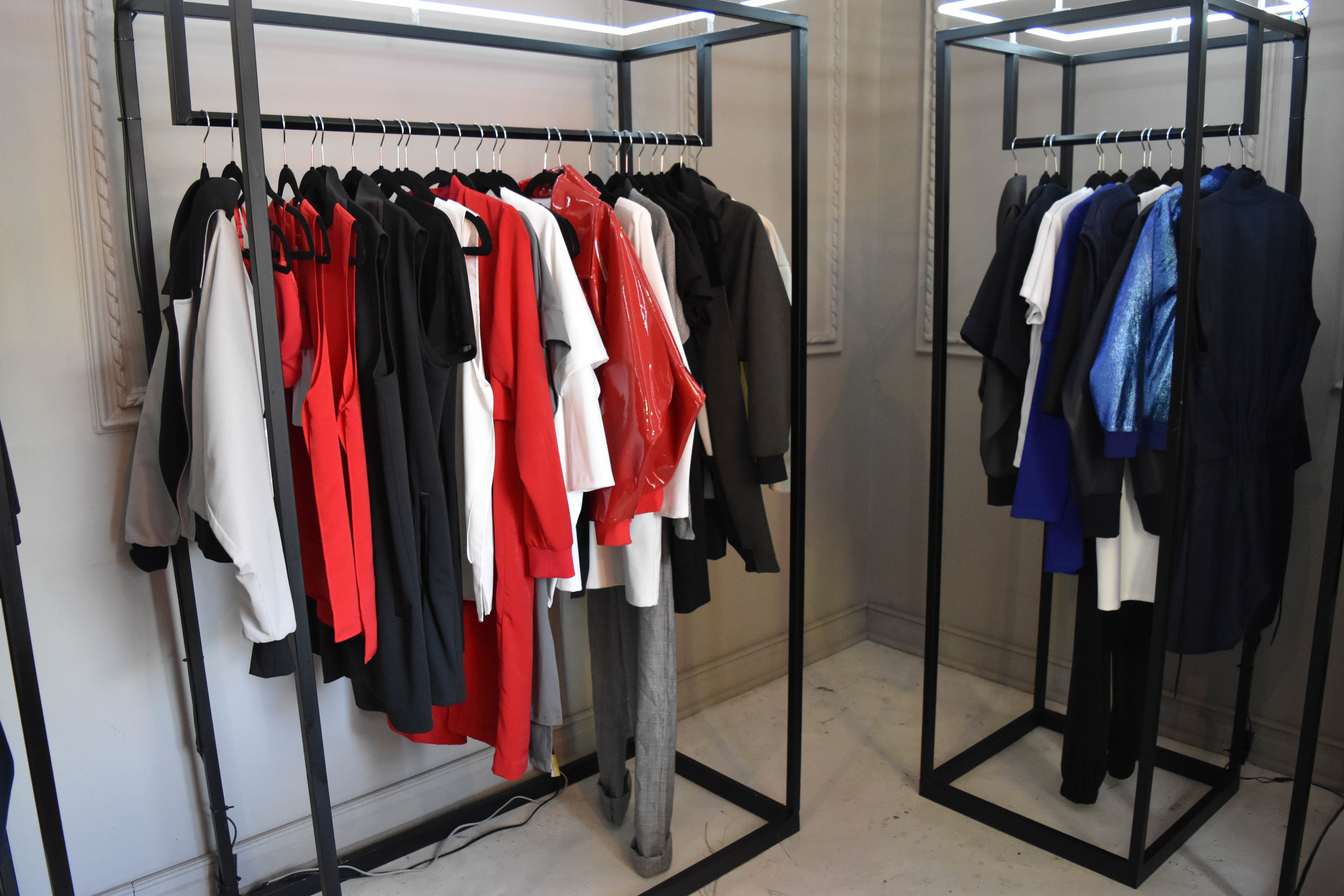 Mexico-based brand  Ocelote  specializes in high quality basic wear…but the clothes ain't basic with fabrics like velvets and synthetic patent leather.
