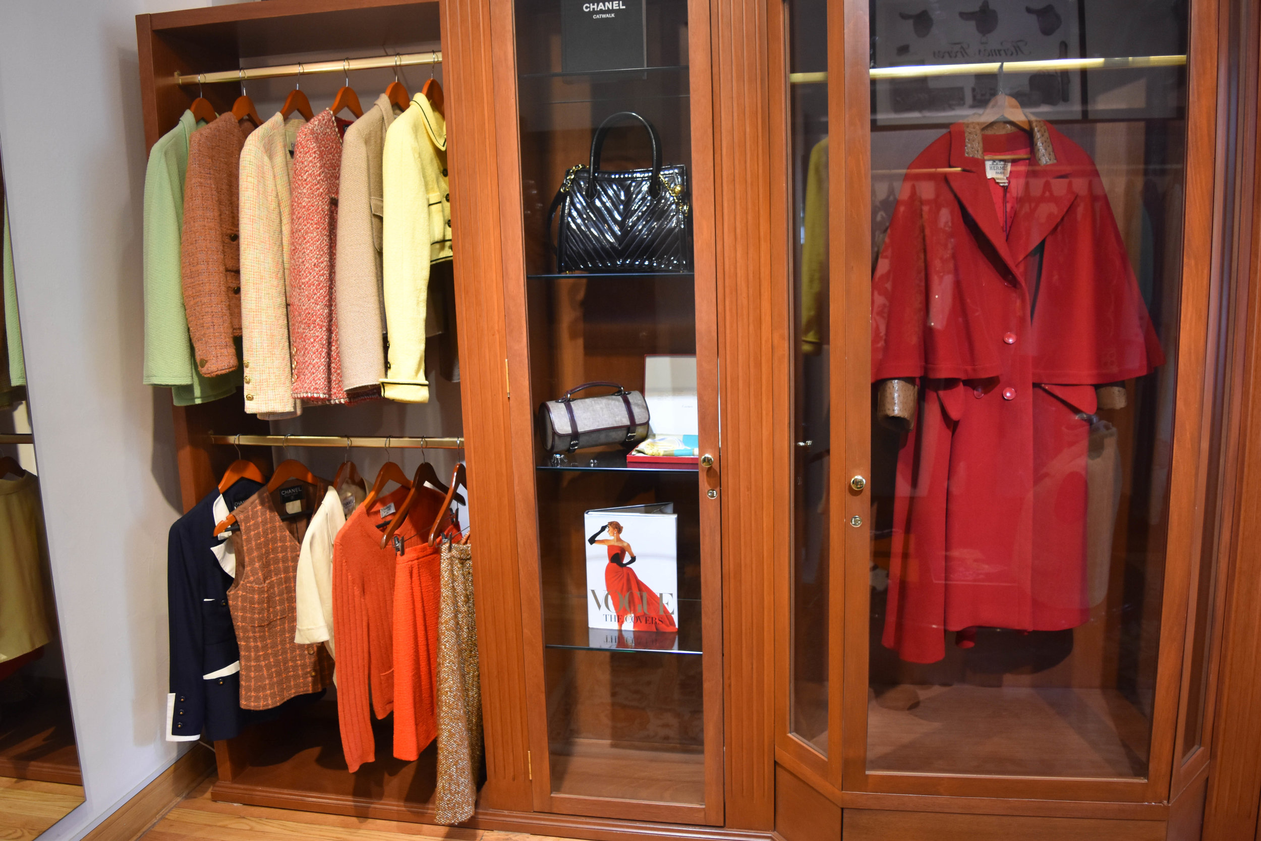 The Coco Chanel room—Chanel tweed suits, Birkin bags, Hermés scarves, and my drool on the floor. (Sorry, it's drool-worthy.)