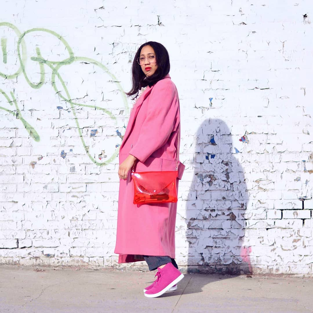 This isn't too much pink. Bag from  Lazy Bones Vintage  and shoes are  AllBirds .