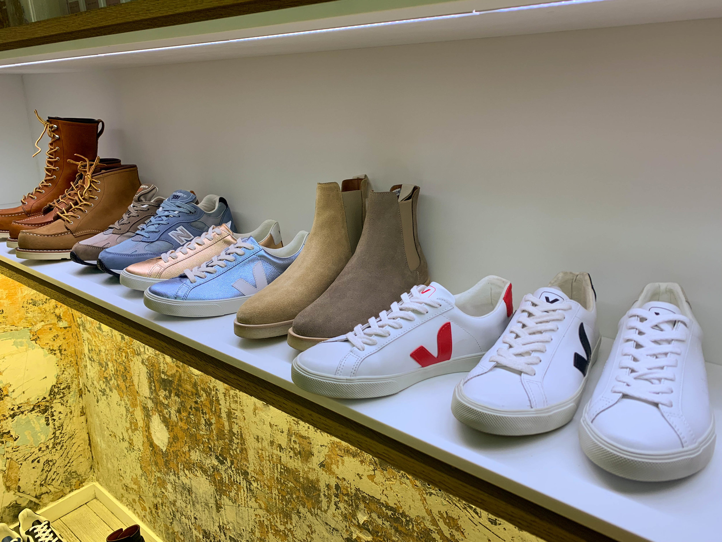 Since the store was started by  Veja 's founders, don't worry. The shoe selection will be good.