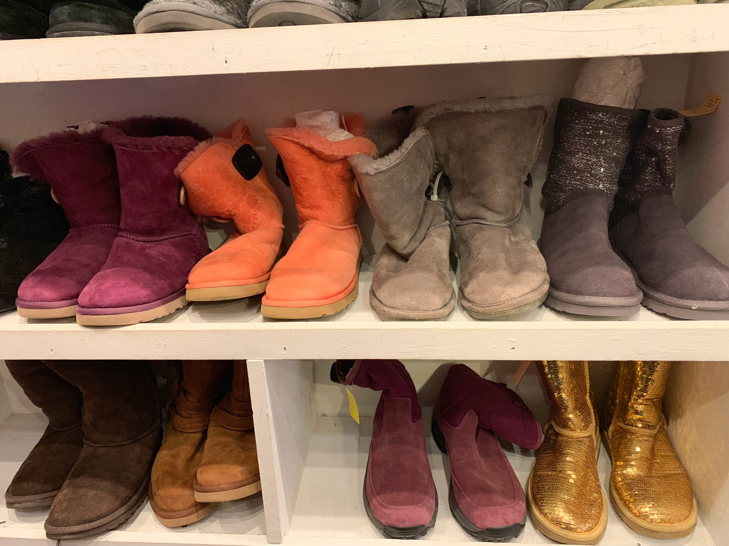 I never thought I missed my UGGs until now. The grey ones were only $18.